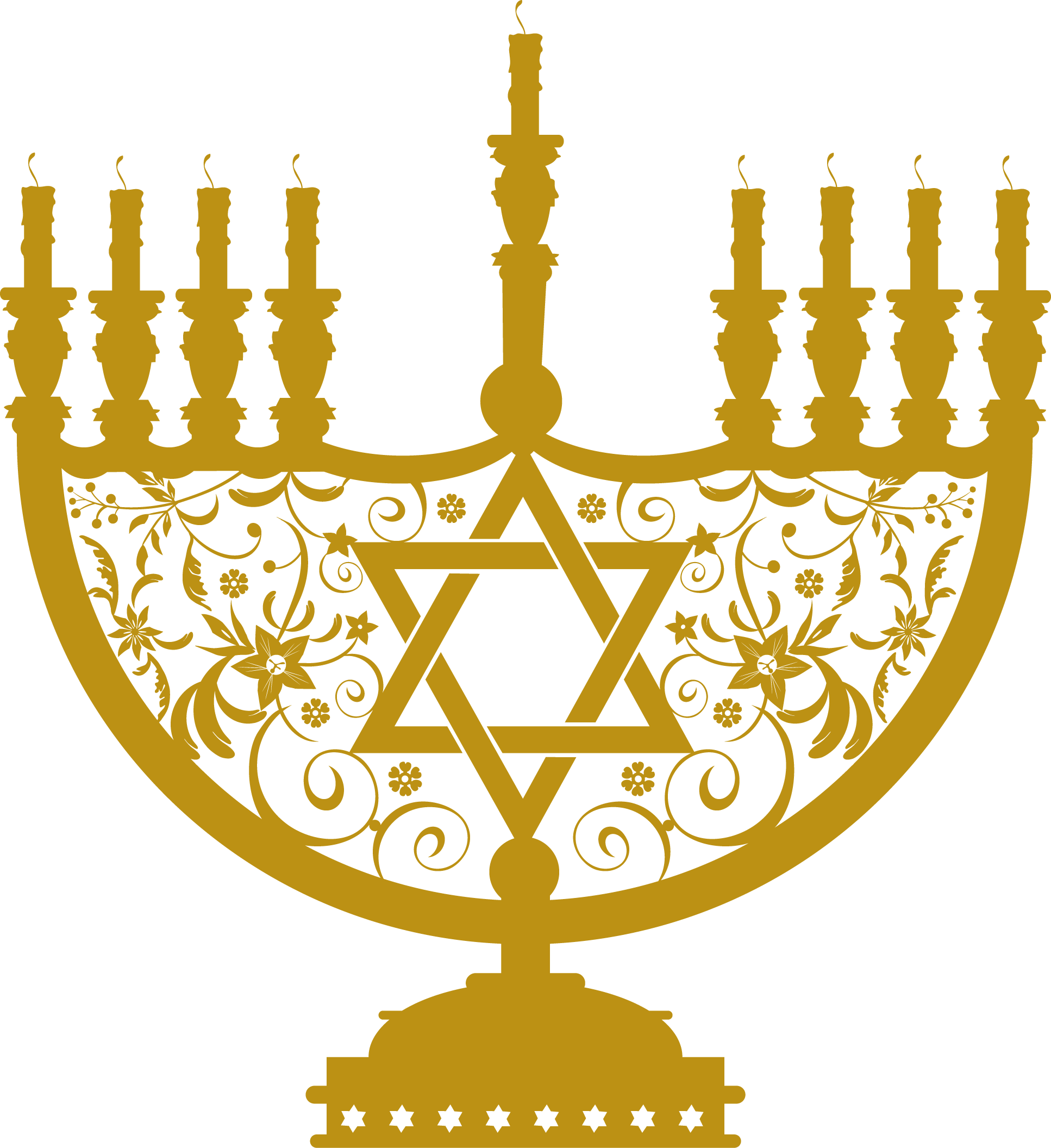Menorah Gold Clipart