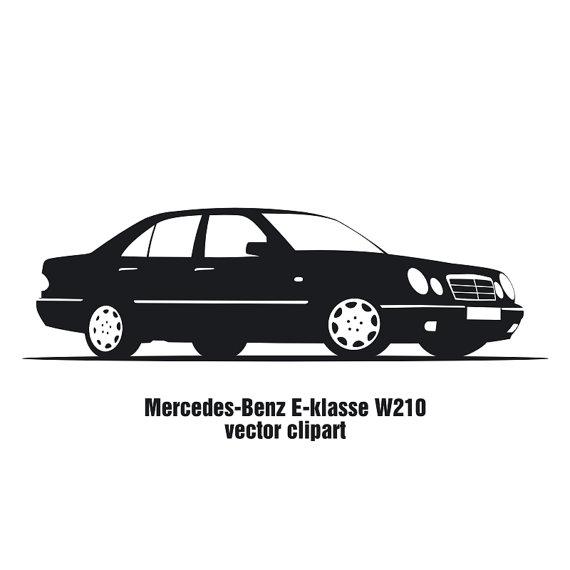 Items Similar To Auto Mercedes-Benz E-kl-Items similar to Auto Mercedes-Benz E-klasse W210 vector clipart on Etsy-3
