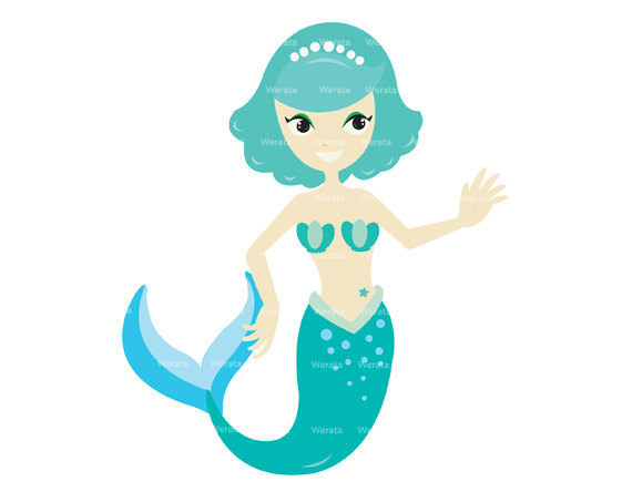 Mermaid Clip Art Digital Clipart Princes-Mermaid Clip Art Digital Clipart Princess Clipart Mermaid Graphics-6