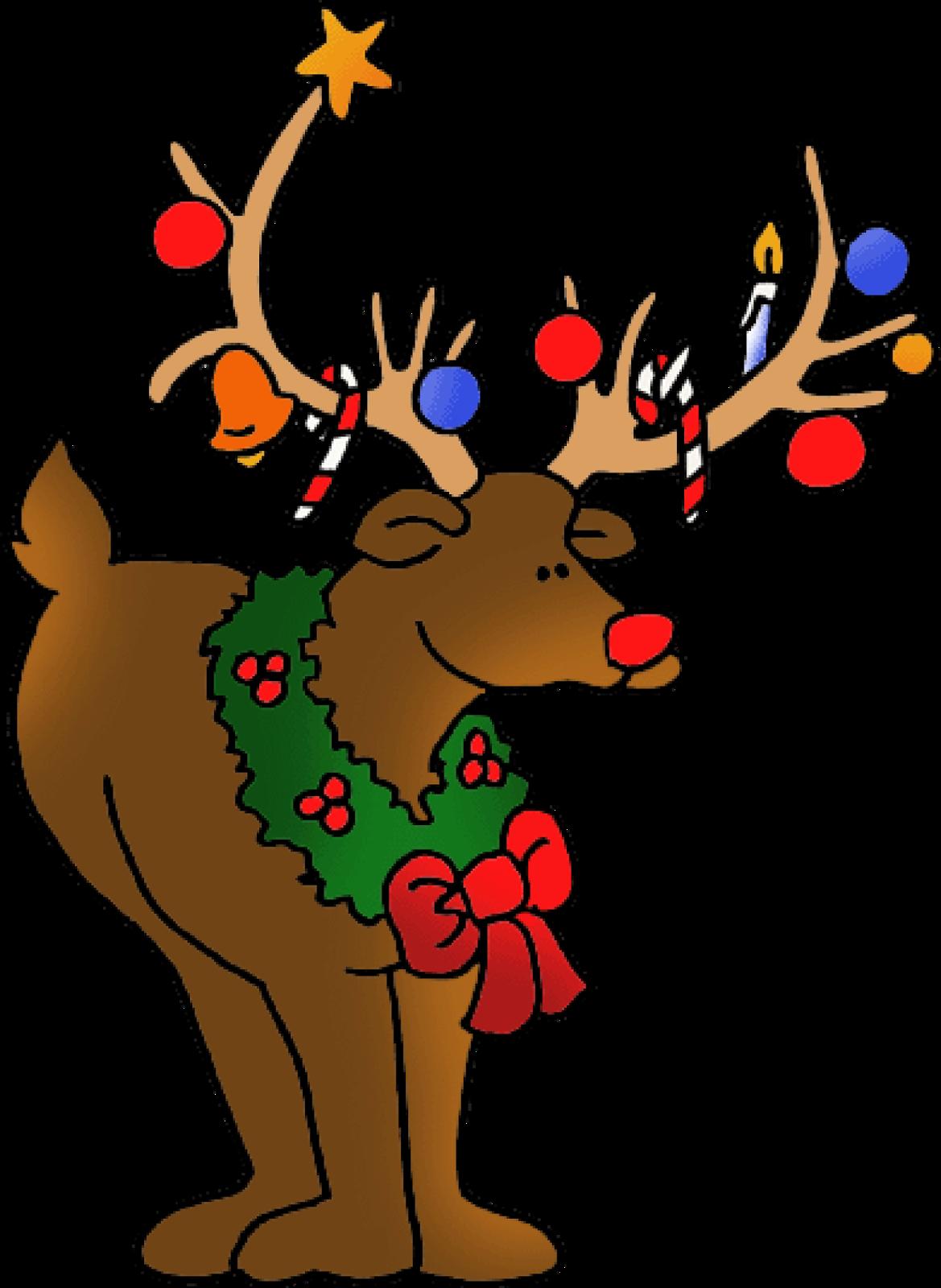 Merry Christmas Deer Clipart .