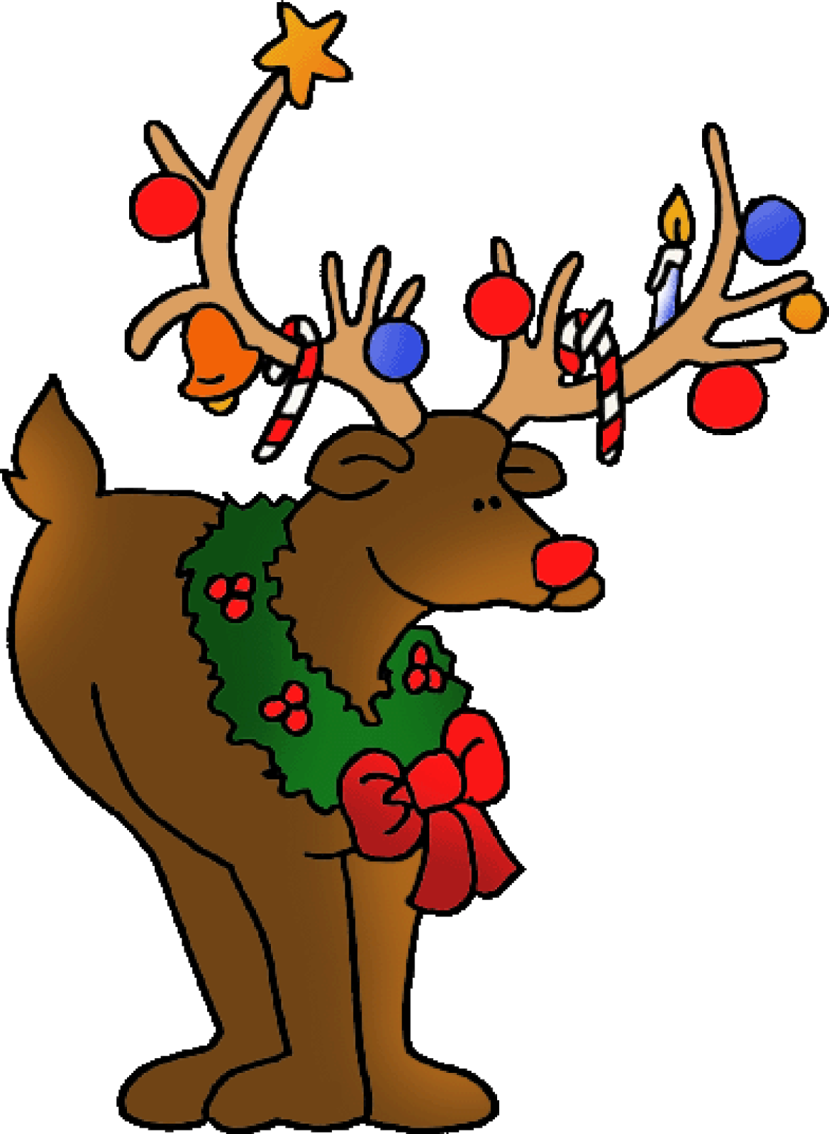 Merry Christmas Deer Clipart .