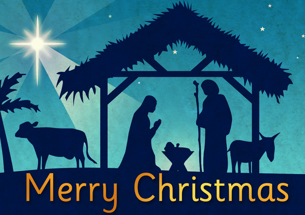 Merry Christmas Religious Clip ... Christmas Nativity Poster Free .