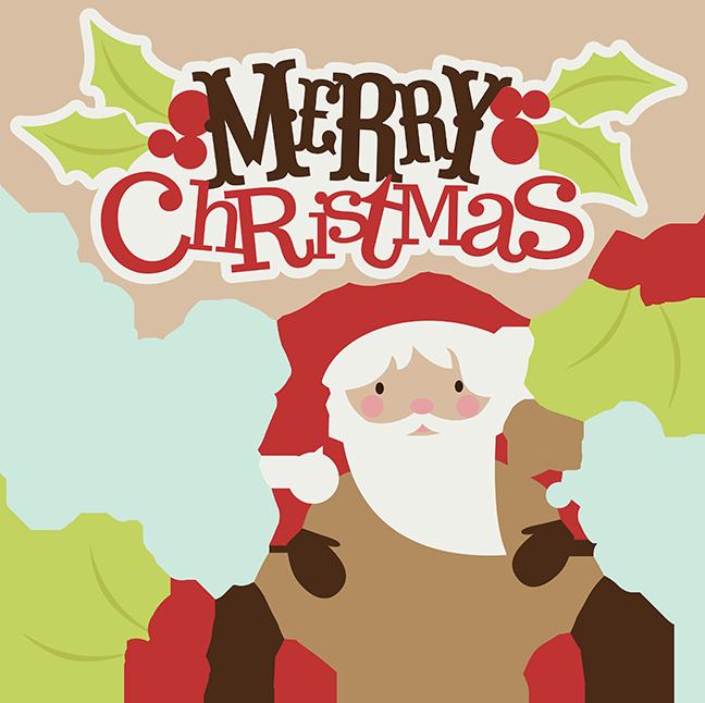 Merry Christmas Svg Christmas Clipart Santa Svg Santa Clipart Cute