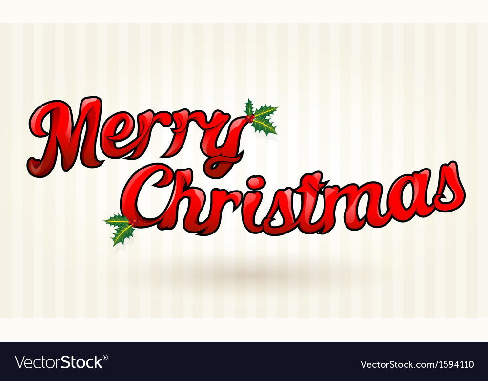 Merry Christmas Text Clipart