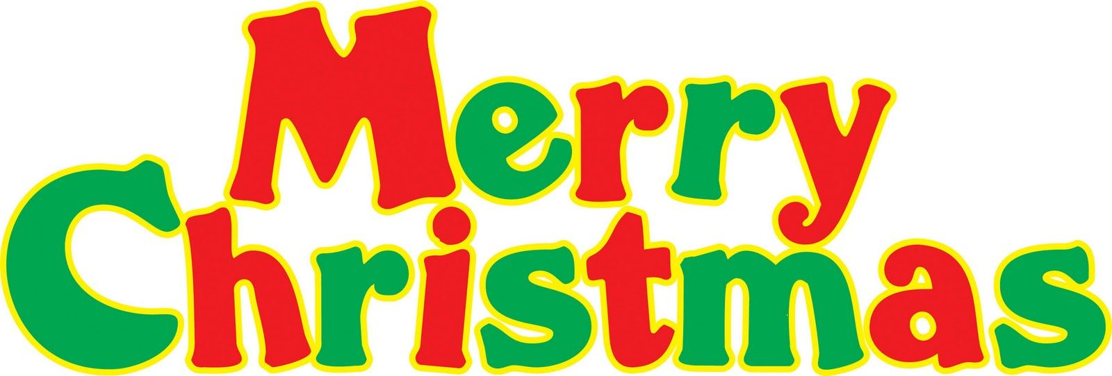 16 Merry Christmas Text Clipart Clipartlook