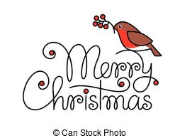 Merry Christmas Text With Bullfinch - Me-Merry christmas text with bullfinch - Merry christmas hand.-12