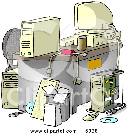 Messy Computer Desk Clipart Picture U002-Messy Computer Desk Clipart Picture u0026middot; Preview Clipart-5