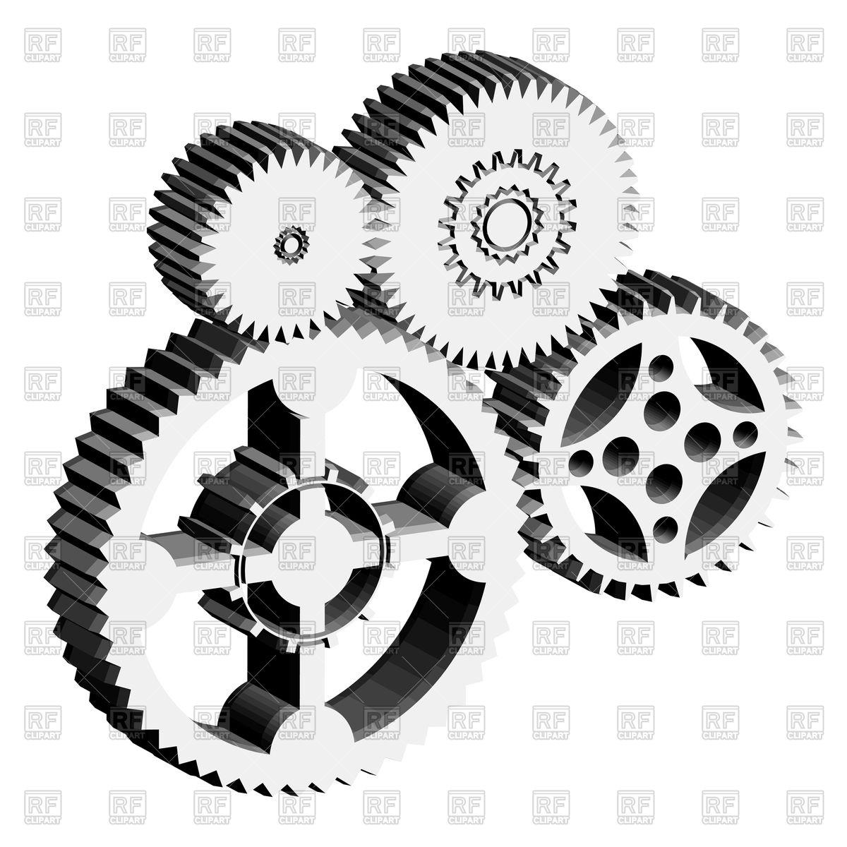 Metal gears and cogwheels Royalty Free V-Metal gears and cogwheels Royalty Free Vector Clip Art-0