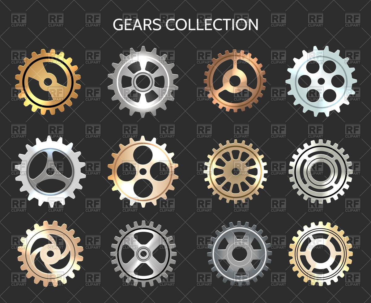 Metal gears illustration isolated on bla-Metal gears illustration isolated on black background Royalty Free Vector Clip  Art-12