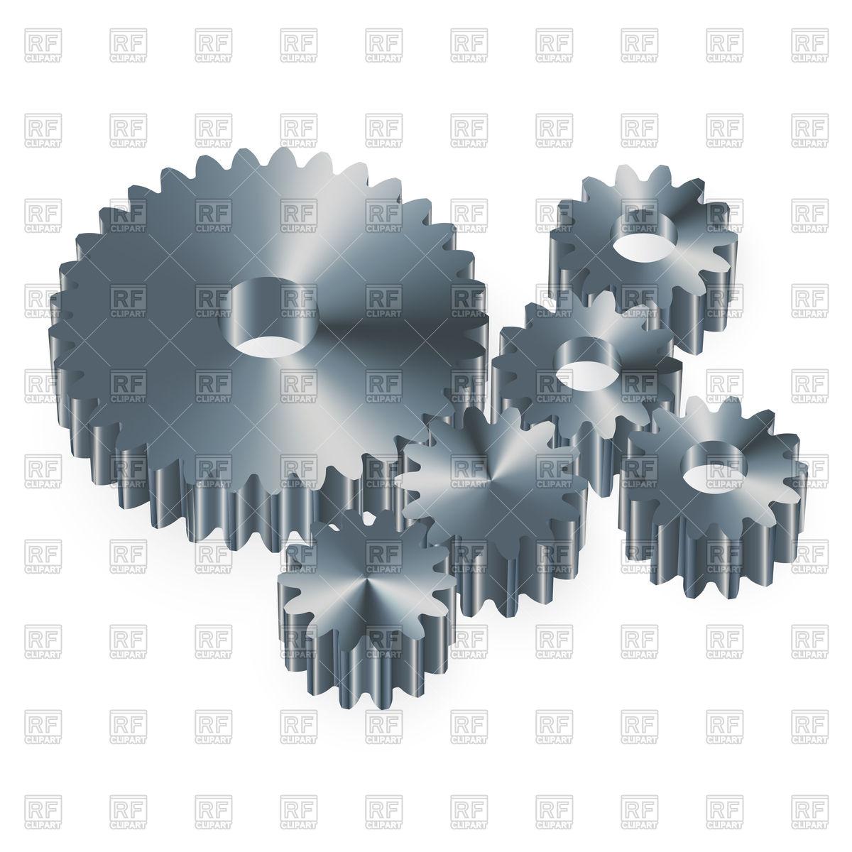 Metal gears on a white background Royalt-Metal gears on a white background Royalty Free Vector Clip Art-7