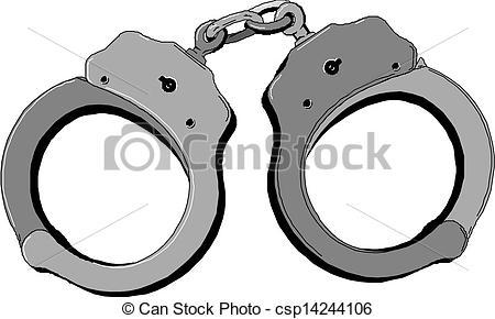 Metal Handcuffs Clip Artby Piai8/1,307; -Metal handcuffs Clip Artby piai8/1,307; Handcuffs-16