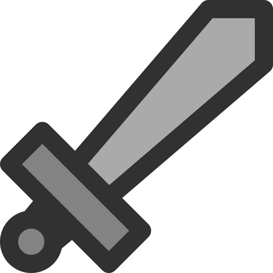 Metal Sword Icon Clipart Large Size-Metal Sword Icon Clipart Large Size-3
