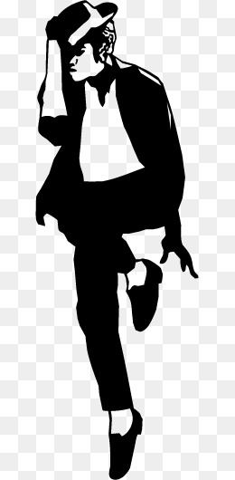 Michael Jackson Dancing Silhouette Mater-michael jackson dancing silhouette material, Popular Dance, King, Dance PNG  and Vector-11