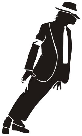Michael Jackson silhouette -  - Michael Jackson Clipart