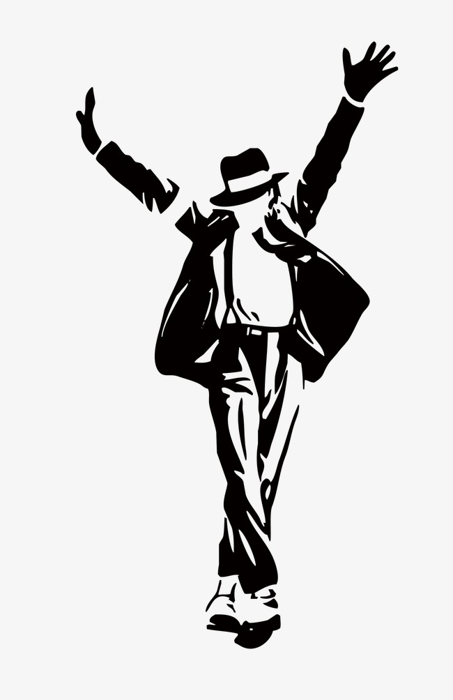 Michael Jackson Silhouette, Simple Peopl-michael jackson silhouette, Simple People, Star Silhouette, Simple PNG  Image and Clipart-16
