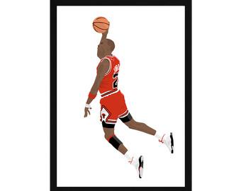 Michael Jordan A3 Poster: .-Michael Jordan A3 Poster: .-9