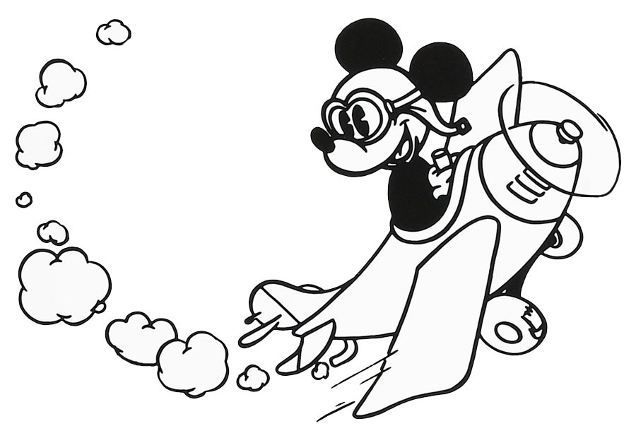 mickey mouse clipart black and white-mickey mouse clipart black and white-7