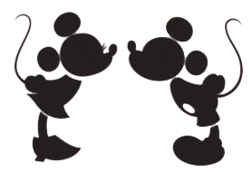 Mickey u0026amp; Minnie Kissi - Mickey And Minnie Clipart