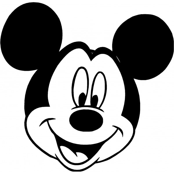 Mickey mouse black and white  - Mickey Mouse Clipart Black And White