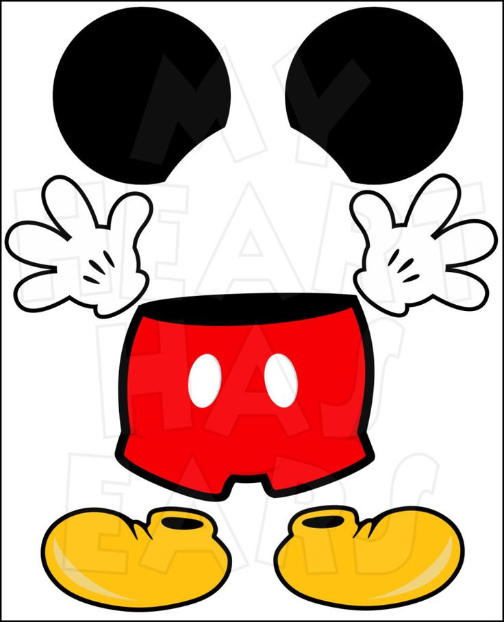 Mickey Mouse body parts for state room Disney cruise door INSTANT DOWNLOAD digital clip art :