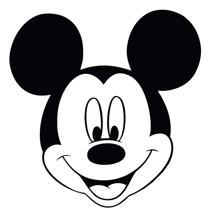 Mickey Mouse Head Template .