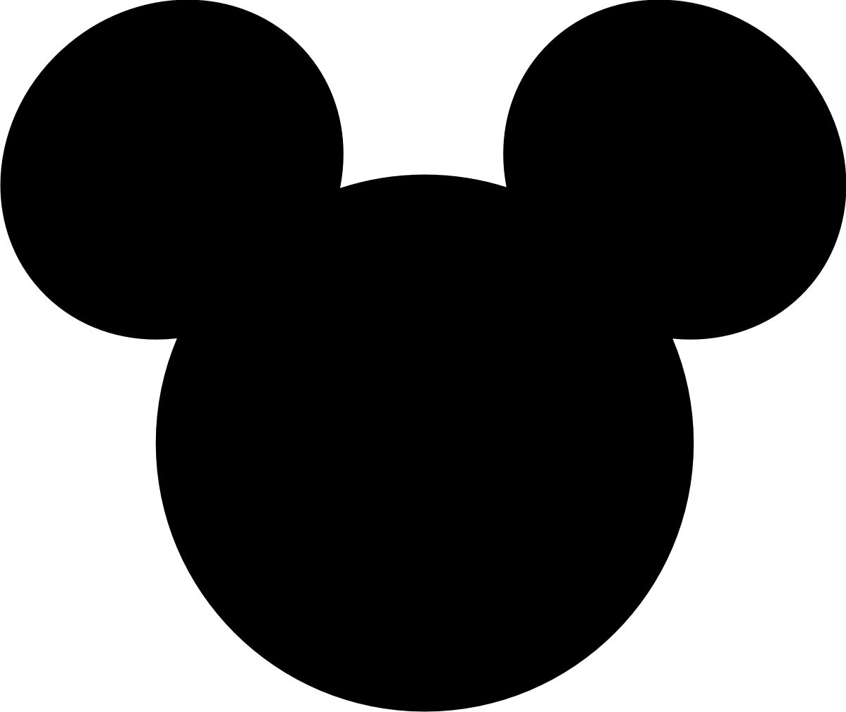 mickey mouse large printable cutouts | Can you guess where we are going.