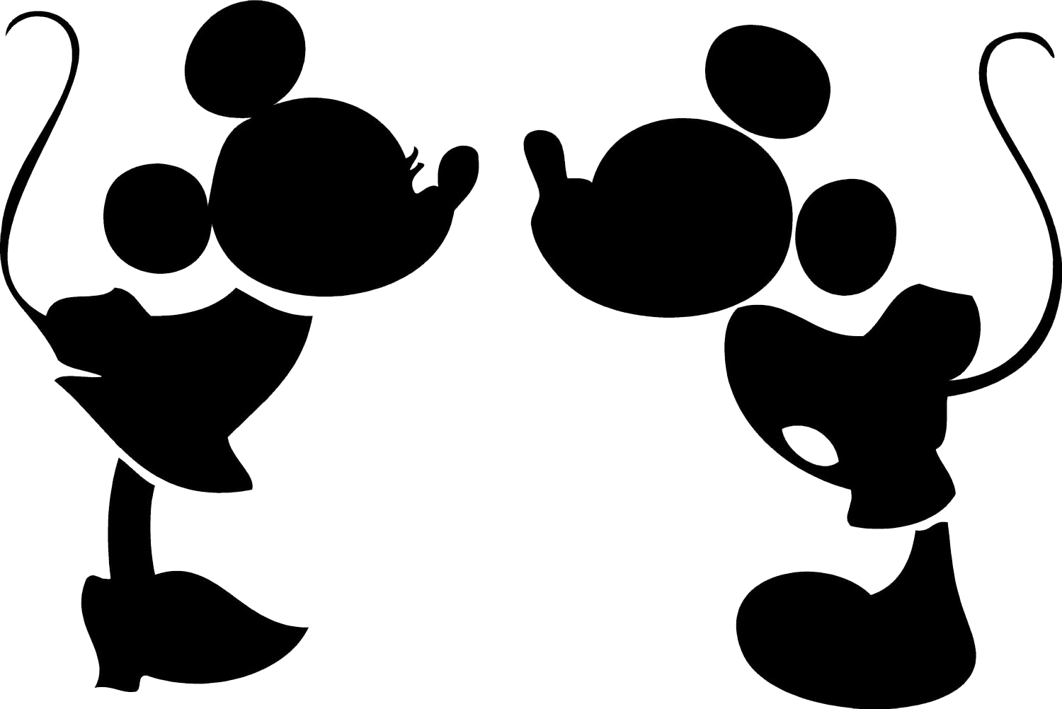 Mickey Mouse Silhouette Clip Art Cliparts Co