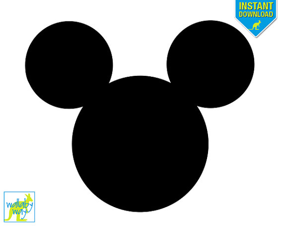 Mickey Mouse Silhouette .