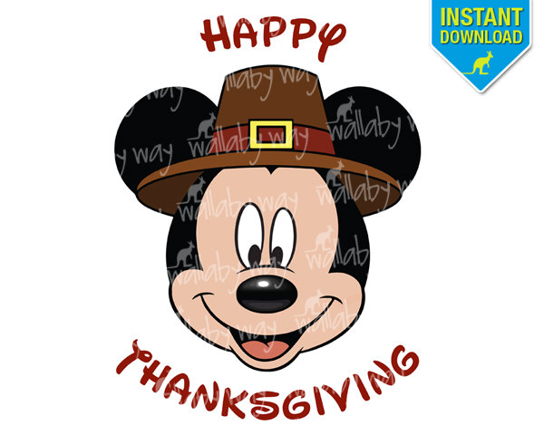 Mickey Mouse Thanksgiving Clipart U0026m-Mickey Mouse Thanksgiving Clipart u0026middot; Popular Items For Thanksgiving Mickey-7