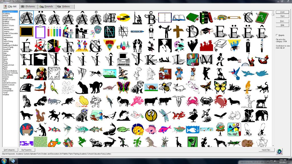Microsoft Clip Art Gallery 3 0 With Micr-Microsoft Clip Art Gallery 3 0 With Microsoft Powerpoint 97 Running In-0