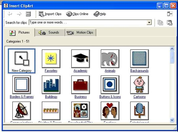 Microsoft Clipart Gallery