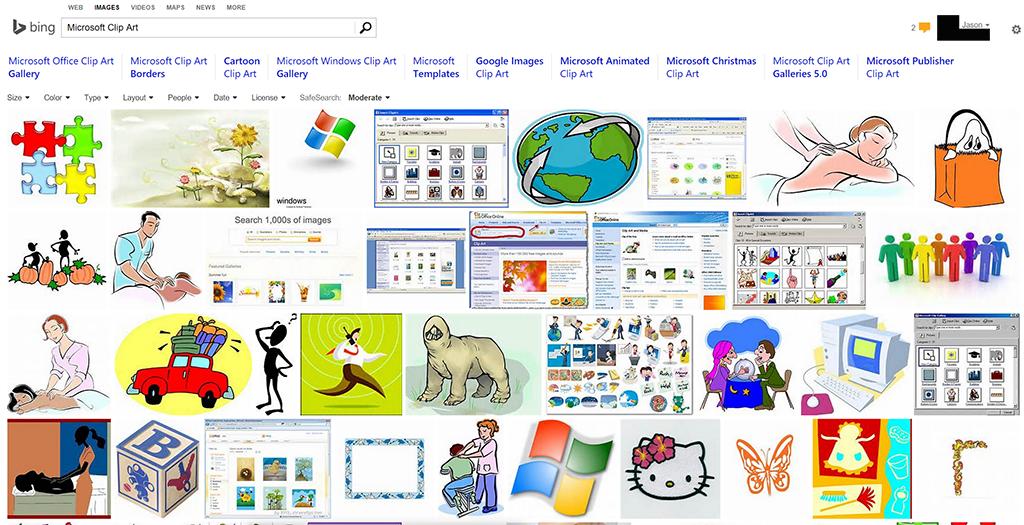 Microsoft Copyright Free Cliparts