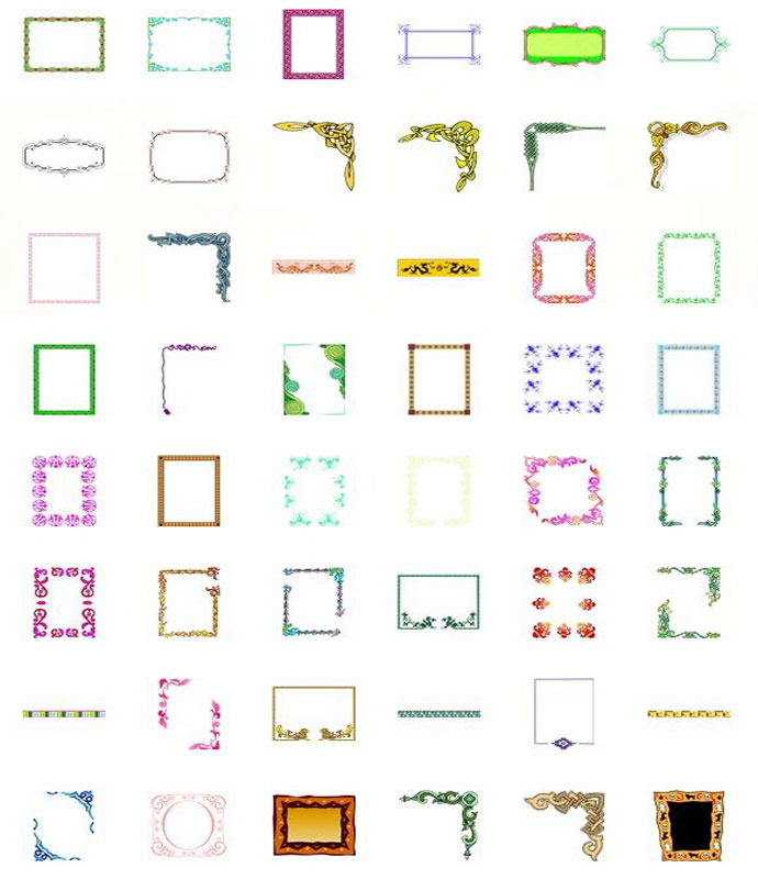 Microsoft Free Clip Art Borders   Mewarnai