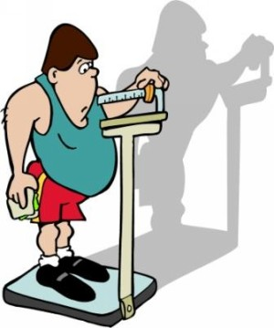 Middle Aged Guy On Scale Clipart From Clipartconnection Com