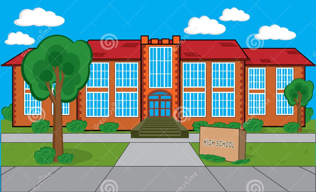 Middle School Building Clipart