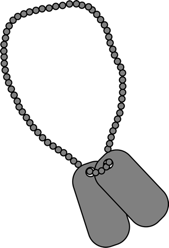 Military Dog Tags Clip Art Image Blank Military Dog Tags This Image