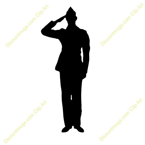 military silhouettes free graphics | Clipart 12368 soldier salute - soldier salute mugs, t-