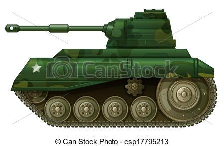 A military tank - csp17795213