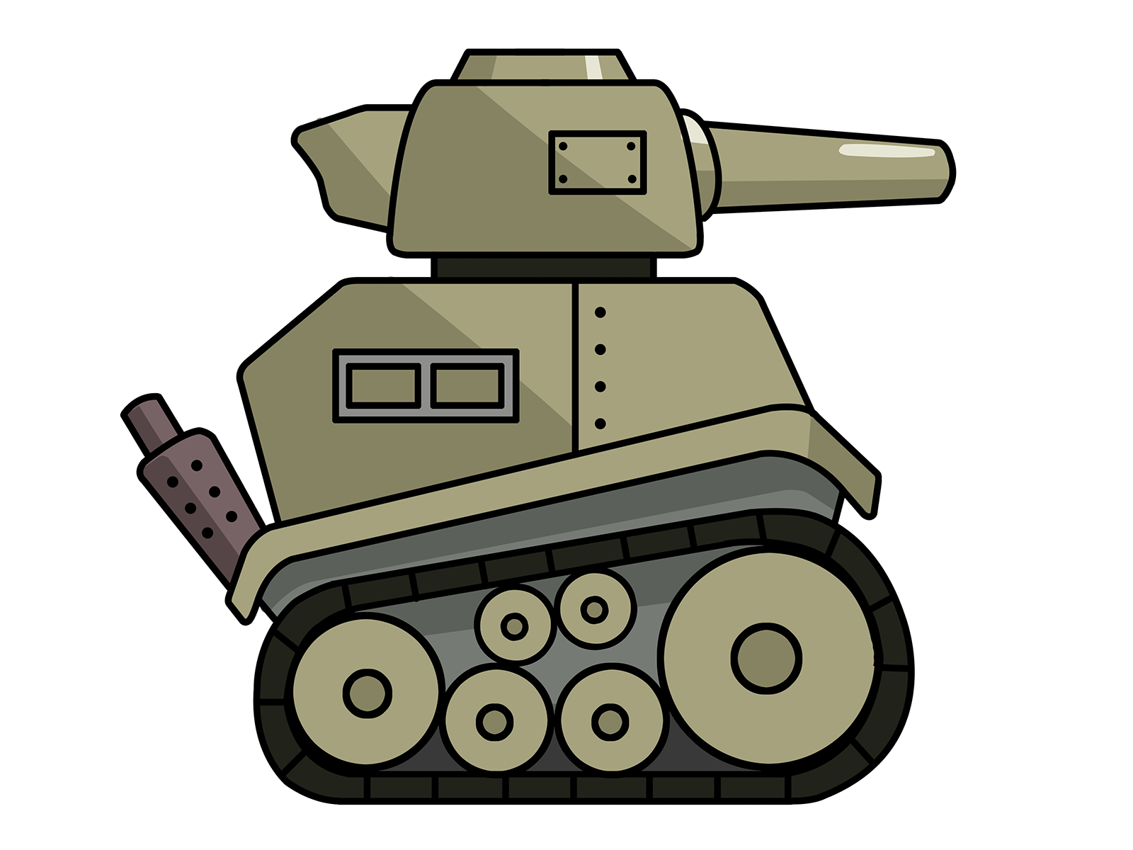 Army clipart: cartoon army tank clip art