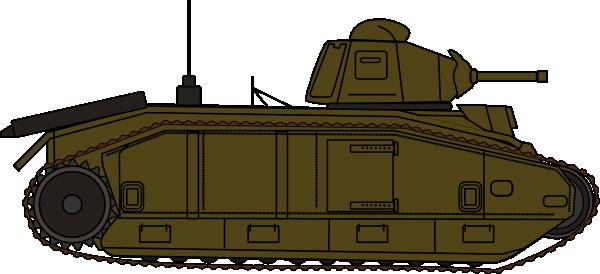 Cartoon Military Tank Clipart #1