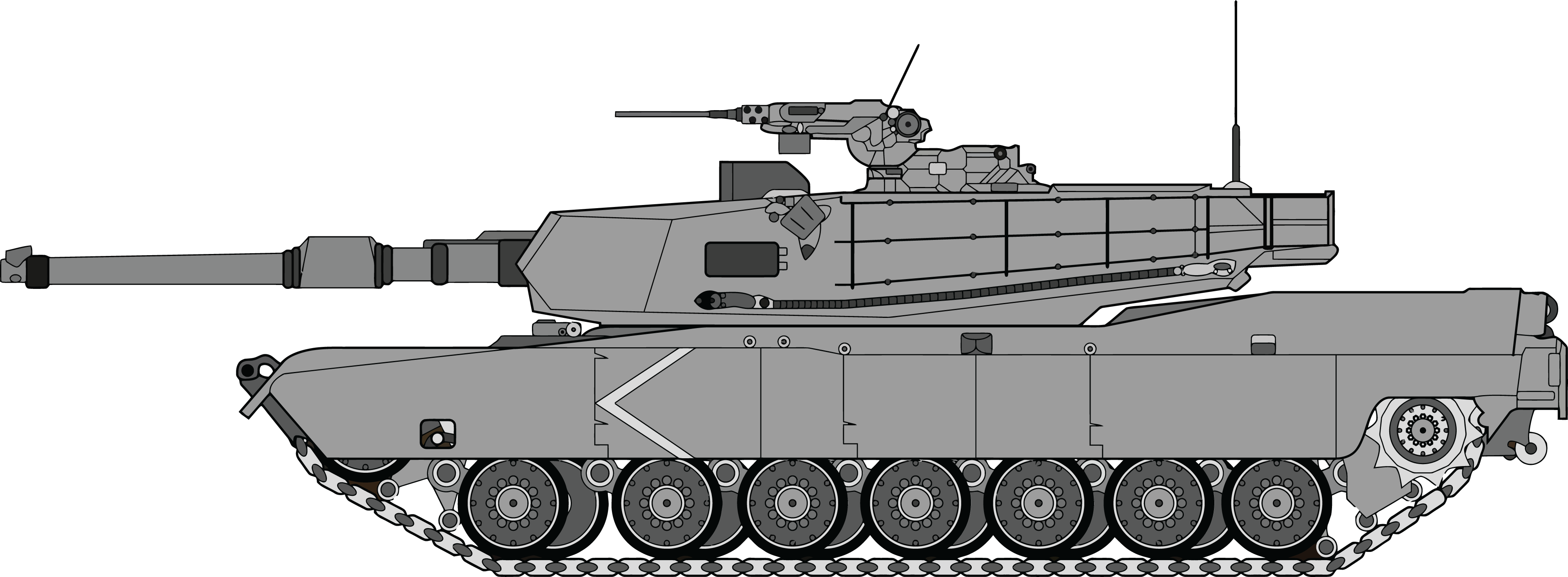 Free Clipart Of An army tank #00011048 .