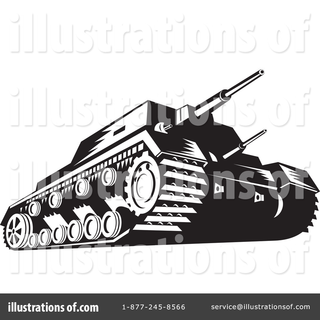 Royalty-Free (RF) Military Tank Clipart Illustration #1144923 by patrimonio