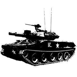 Tank vector clip art