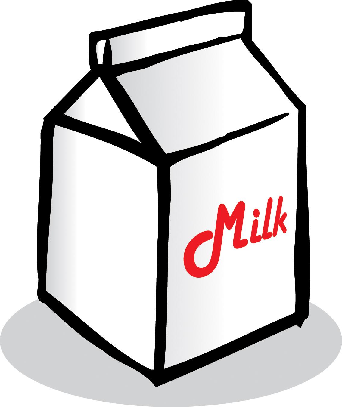 milk carton clipart black and - Milk Carton Clipart