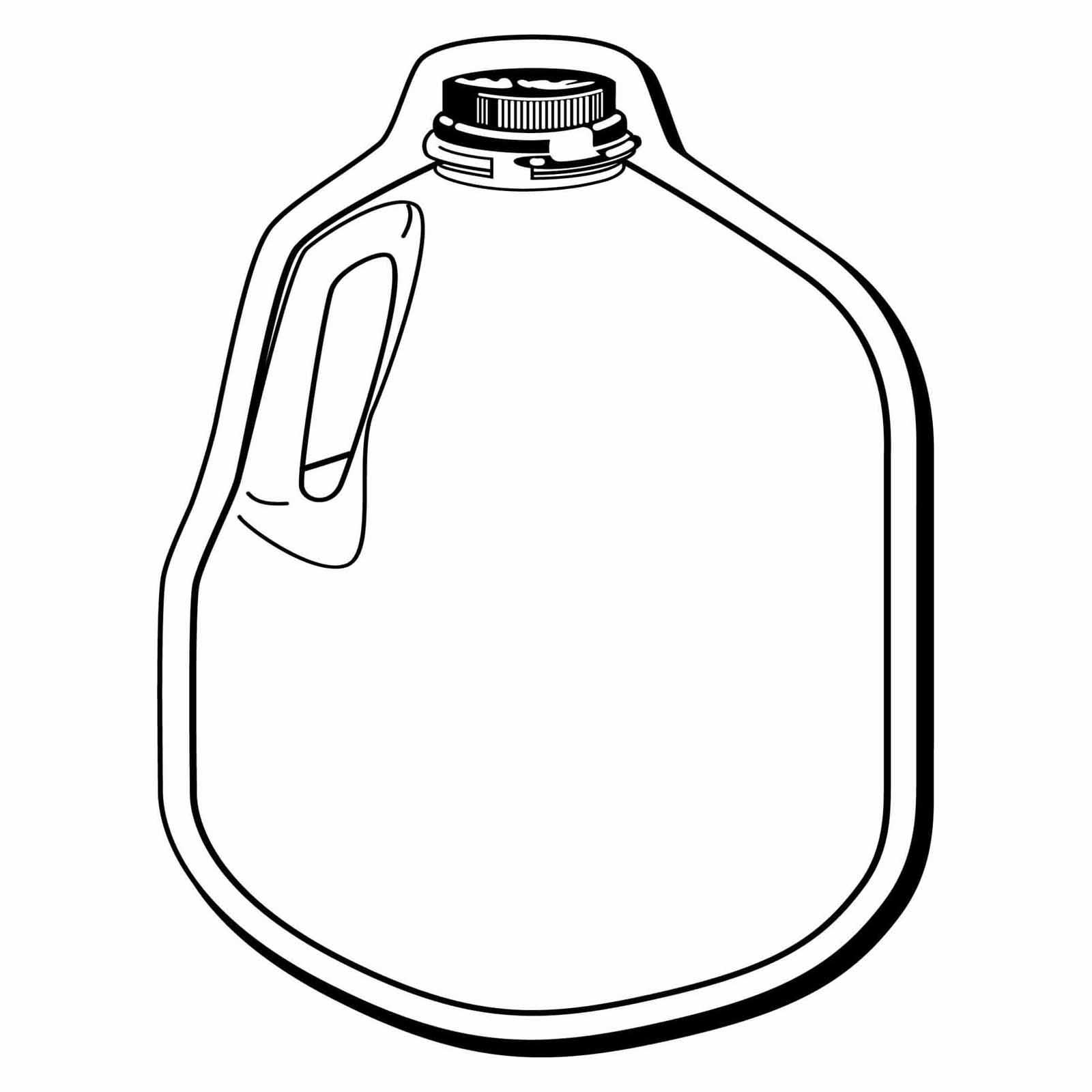 Milk Black And White Clipart .