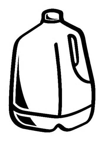 Milk Jug Clip Art Black And ..