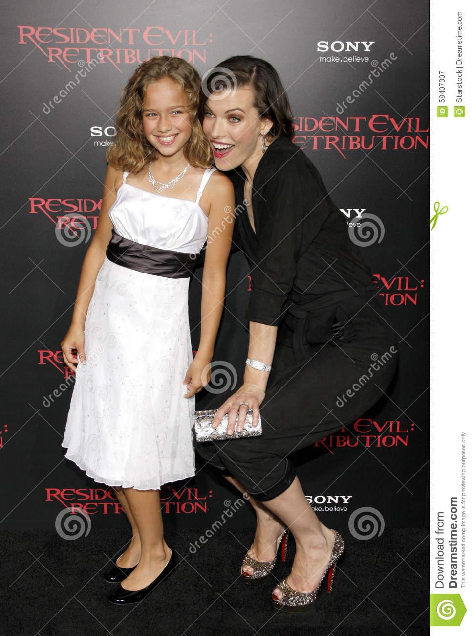 Milla Jovovich And Aryana Engineer Edito-Milla Jovovich And Aryana Engineer Editorial Photography - Image of  hollywood, premiere: 58407307-10
