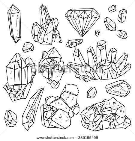 Mineral Crystal Stock Vectors u0026 Vector Clip Art | Shutterstock