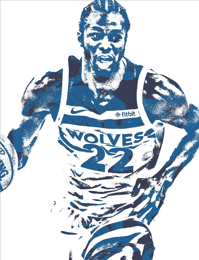 Andrew Wiggins Mixed Media - Andrew Wiggins Minnesota Timberwolves Pixel  Art 10 by Joe Hamilton
