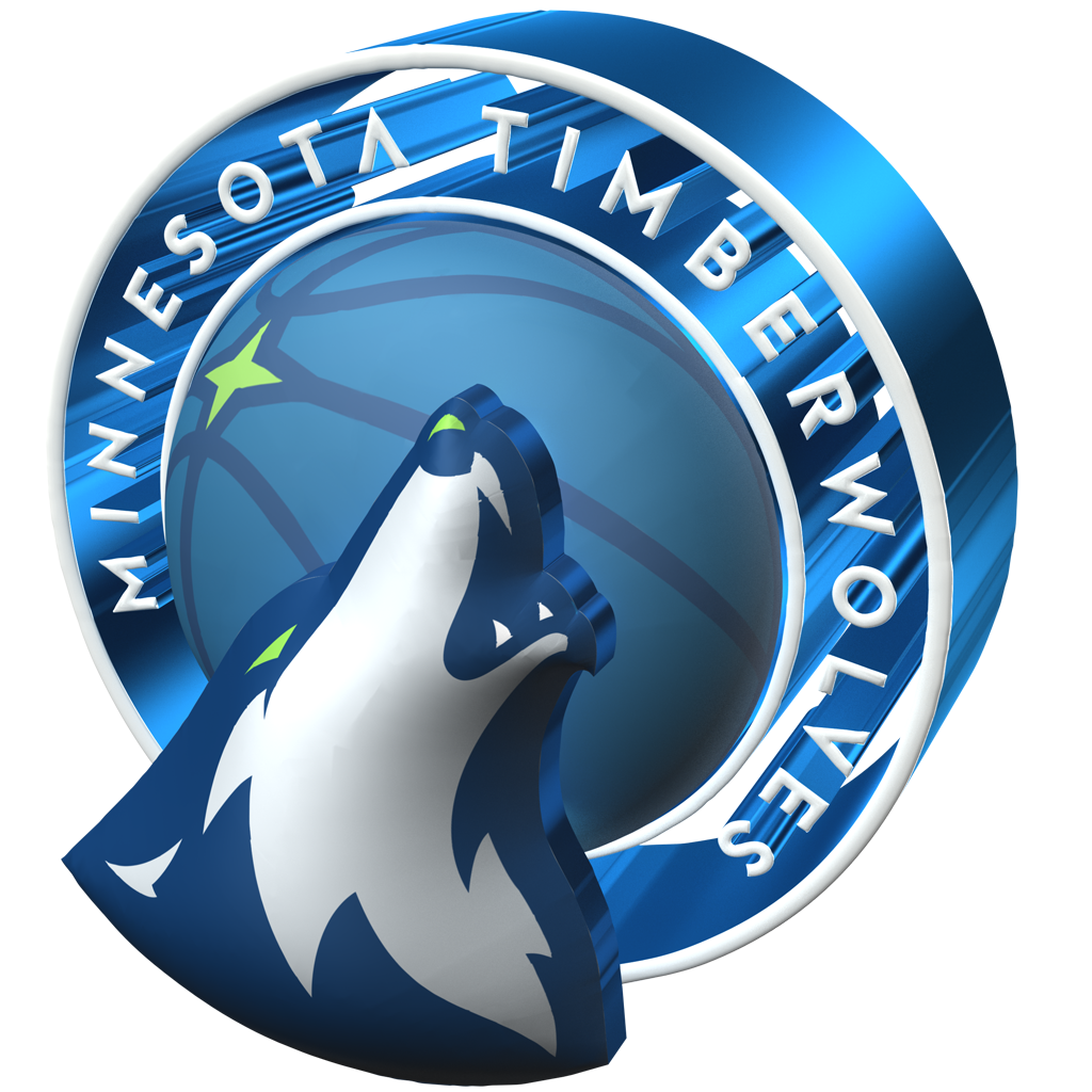 Minnesota Timberwolves 2017-2018 3D Logo (Alternate)
